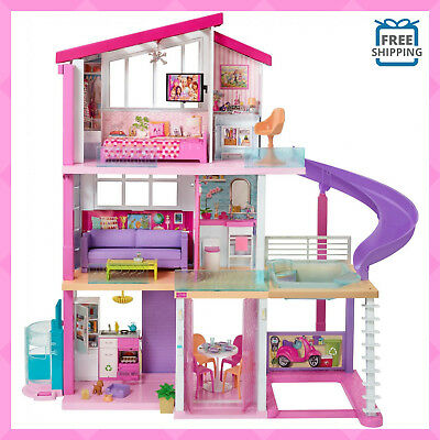 Doll House Playset Barbie Dreamhouse with 70+ Accessories Toys for Girls