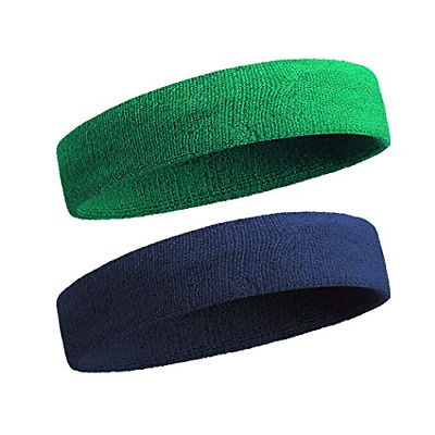 Sportline Head Band, Terry Cloth Headband, Sweat Band (2Pcs/3Pcs Pack) New
