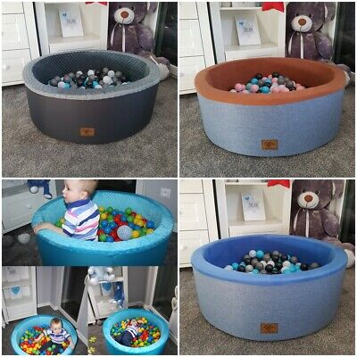 SOFT BALL POOL KIDS CHILDREN BOY GIRL PLAY PIT in/outdoor +balls pink grey blue