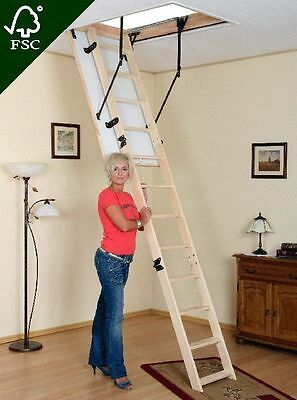 Attic Steps Handrail + Feet + Skirting Space-Saver Stairs Many Size Extra