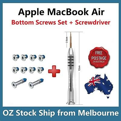 "Apple MacBook Air 13"" A1369 A1466 Bottom Case Screws Set with Screwdriver Tool"