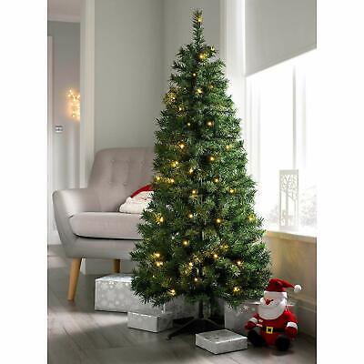 WeRChristmas Pre Decorated Christmas Tree, 50 Warm White LEDs, Green, 1.5m