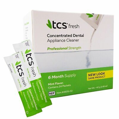 TCS Cleaner Weekly Sachets ~ Cleaning Flexible Dentures Partials