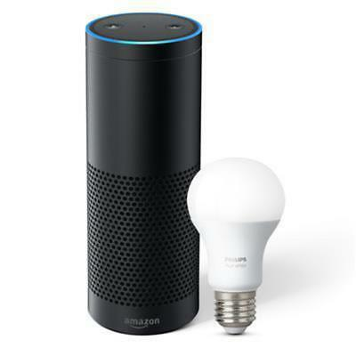 """""""Easy Does It"""" Smart Home Kit - Amazon Echo Plus with Philips Hue Bulb"""