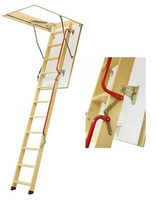 Attic Steps H280 70x120 Wooden Staircase 120x70 Space-Saver Stairs LWL Lux Fakro