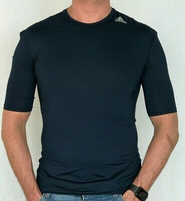 100% Authentic Mens Adidas Climalite Tech Fit Compression Performance Tee Xl