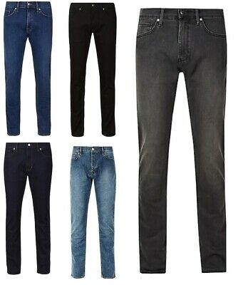 Ex M&S Mens Jeans Stretch Cotton Slim Fit Denim Trousers Pants Marks & Spencer