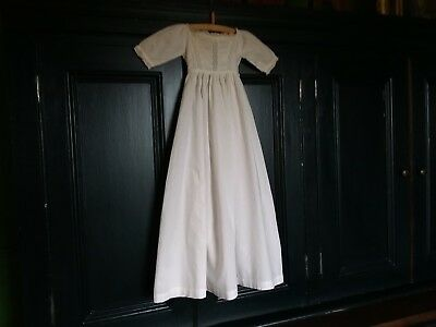 ANTIQUE GEORGIAN boys girls  CHRISTENING GOWN DRESS ROBE beautiful HEIRLOOM