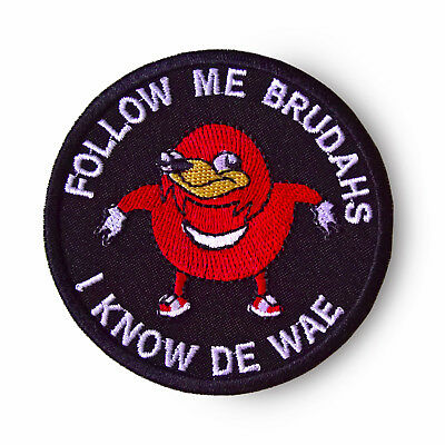 Ugandan Knuckles Patch Follow me I Know De Wae Sew On Patch Black Meme Patch