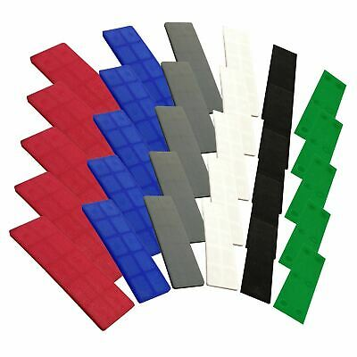 100 x JCP 28mm Flat Window Glazing Glass Packers Assorted Colours Plastic Spacer