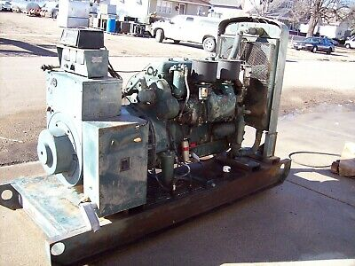 100kW LIMA Diesel, Low Hours, Standby Generator with DETROIT engine!