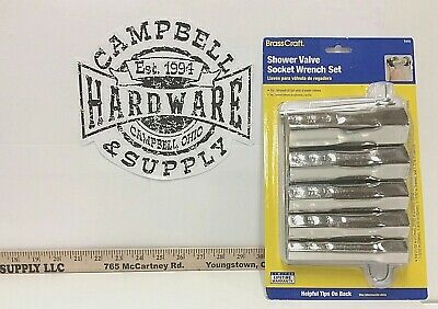 "BrassCraft Shower & Tub Valve Deep Socket Wrench Tool Set T415 21/32"" to 1-3/32"""