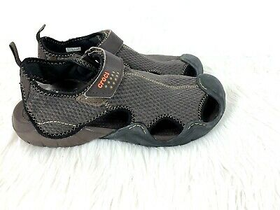 68b62632e2f7 Crocs Swiftwater Mesh Deck Sandals size 11 Men Espresso Water Boat Fishing  Shoes