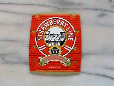 RCH Strawberry Line real ale beer pump clip sign