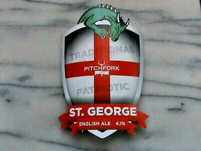 RCH Pitchfork Ales St George English Ale real ale beer pump clip sign