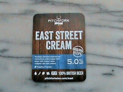 RCH Pitchfork Ales East Street Cream real ale beer pump clip sign