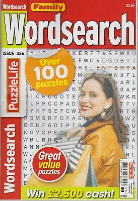 FAMILY WORDSEARCH  #336 NEW PUZZLE Magazine (Free 1st class post U.K.)