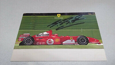 AUTOGRAPH MICHAEL SCHUMACHER PROMO CARD UFFICIALE FERRARI 2005 postcard, good