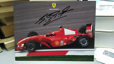AUTOGRAPH MICHAEL SCHUMACHER PROMO CARD UFFICIALE FERRARI official card