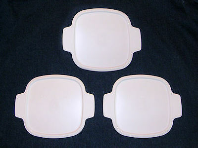 3 NEW Corning Ware REPLACEMENT Lids for 1 Qt, 1.5, 1 3/4 Qt Storage Lids A-1-PC