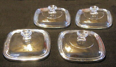 4 NEW Petite Glass Replacement Lids fit Corning Ware P-41 P & P-43-P Petite Pans