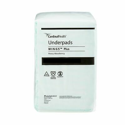 "Wings Disposable Underpad HEAVY Absorbency Fluff / Polymer 36 X 36"" 968 48 /Case"