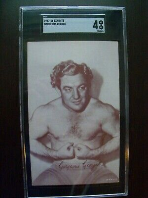 SGC Graded Wrestler Gorgeous George Wrestling Exhibit Arcade Card