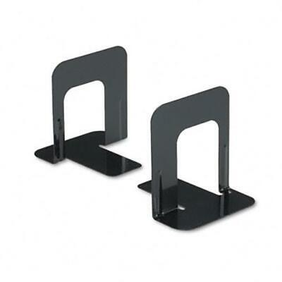 Innovera Standard Deluxe Bookends with Nonskid Base 4-3/4 x 5-1/4 x5 Steel Black