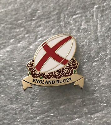 Very Rare England Rugby Union Supporter Enamel Badge - Wear With Pride 6 Nations
