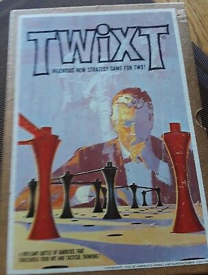 TWIXT Vintage 1962 BOOKSHELF BOARD GAME by 3M Complete Strategy Challenging Wit
