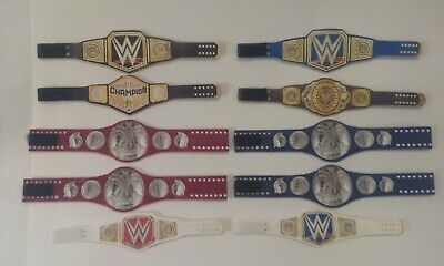 10 Custom Wrestling Figure Belts WWE WWF NXT FROM 2018 (FIGS NOT INCLUDED)