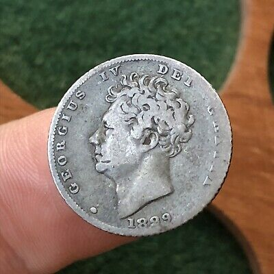 George IV. Silver Sixpence 6d, 1829.
