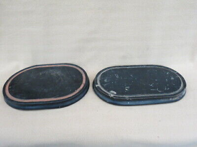 X 2 Antique Ebonised Clock Dome Bases Taxidermy Lot 2