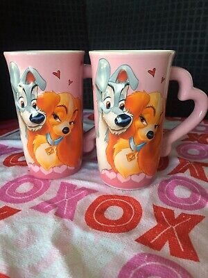 Disney's Lady and the Tramp 3D Ceramic Mug Set Of 2