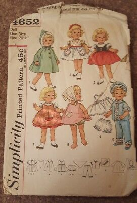 """Coat Vtg 60s Pattern 20/"""" Chatty Cathy Doll Clothes ~ Dress Blouse Panties"""
