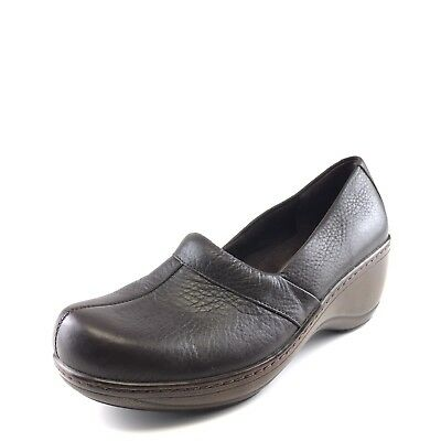 8c0b2001c3dcc Softwalk Melody Brown Leather Comfort Slip On Clogs Women s Size 8.5 M