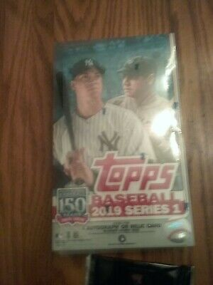 Unopened 2019 Topps Baseball Series One  Box With Silver Pack