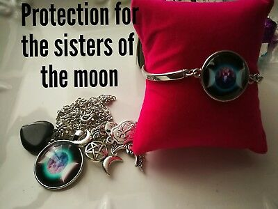 Code 378 Protection for the Sisters of the moon infused necklace n bracelet set