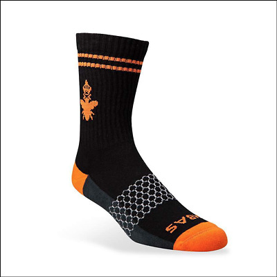 Brand New AUTHENTIC BOMBAS Men's Medium Socks Black/Orange - Free Shipping!