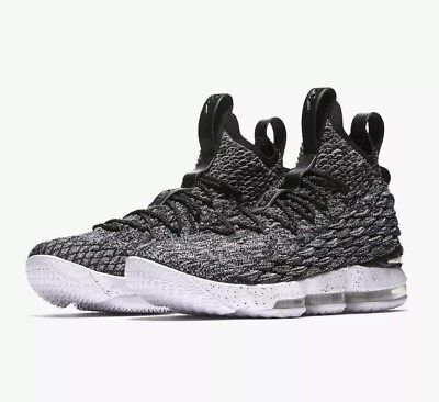 24670a041007 NIKE LEBRON XV 15 Ashes Black White (897648-002) Men s Size 9.5 NEW ...