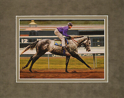 Silver Charm by Tim Cox 8x10 double matted art print - horses