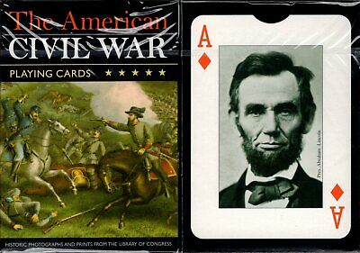 The American Civil War Playing Cards Poker Size Deck Piatnik Custom Limited New