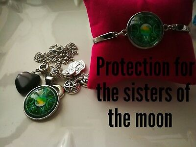 Code 379 Protection for the Sisters of the moon infused necklace n bracelet set