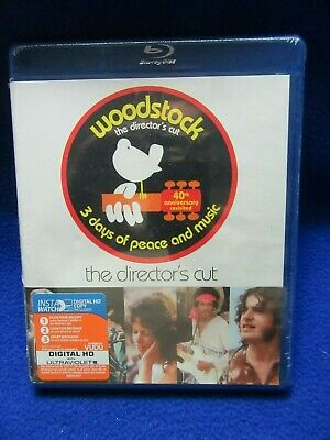 ~~ Woodstock The Director's Cut 40Th Anniversary Revisited ~ Blu-Ray New! ~~