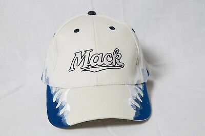 f8607704038 Mack Truck Hat Official Bulldog Basics Strapback Buckle Cap White   Blue  Flame