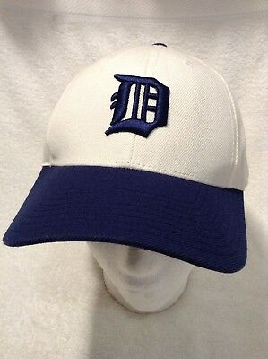5736fe4dd63 American Needle Detroit Tigers Hat Cap Size 7 1 2 White w  Blue Cooperstown