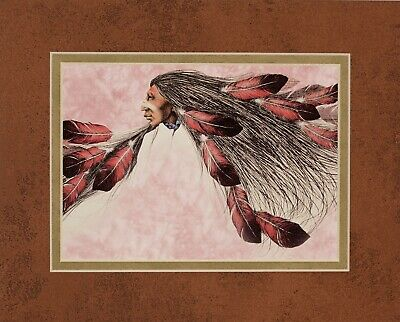 Warrior by Frank Howell 8x10 double matted art print