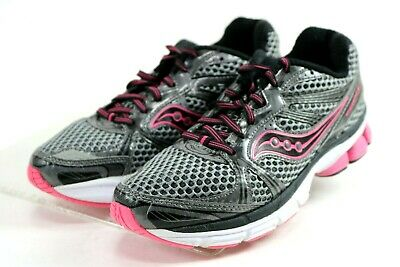 6ee934cfcff3 Saucony ProGrid Guide 5  108 Women s Running Shoes Size 7.5 Grey Hot Pink