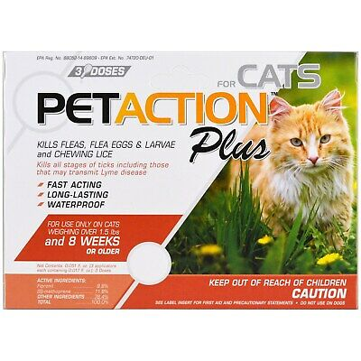 Pet Action Plus for Cats - 3 Doses