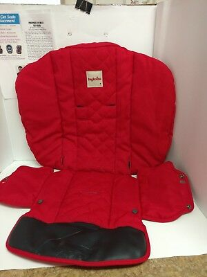 Red Inglesina Stroller Fabric Seat Cover Cushion Support Replacement.